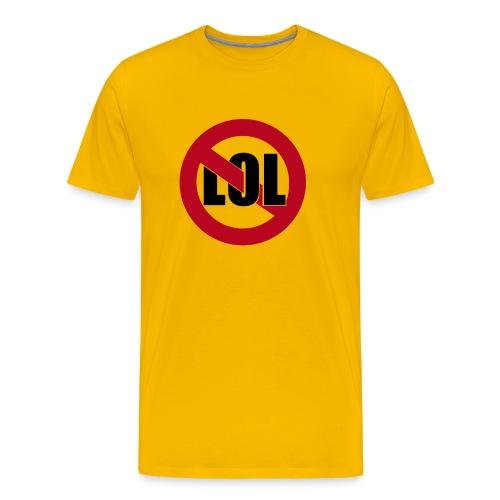 No LOL [gelb/Motiv] - Männer Premium T-Shirt