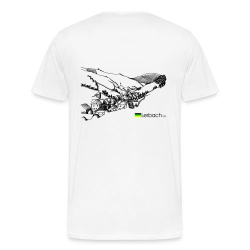 Lerbachtal hinten, Logo vorn; weiß - Männer Premium T-Shirt