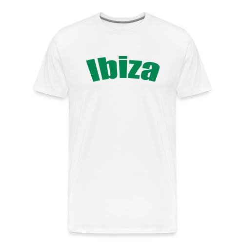 Camiseta blanca. Ibiza. - Camiseta premium hombre