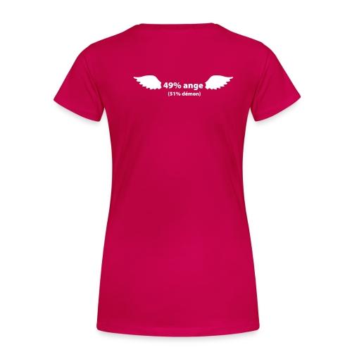 mi ange (rose) - T-shirt Premium Femme