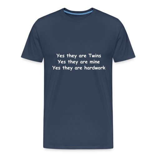 XXXL YES THEY ARE TWINS (NAVY) - Men's Premium T-Shirt