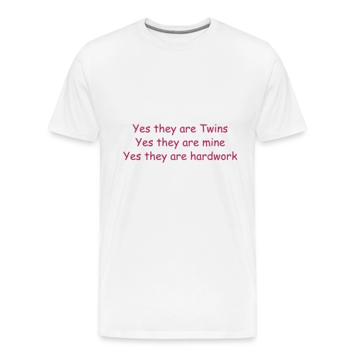 XXXL YES THEY ARE TWINS - Men's Premium T-Shirt