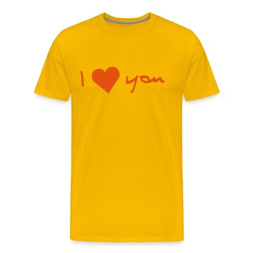 I Love You - Männer Premium T-Shirt