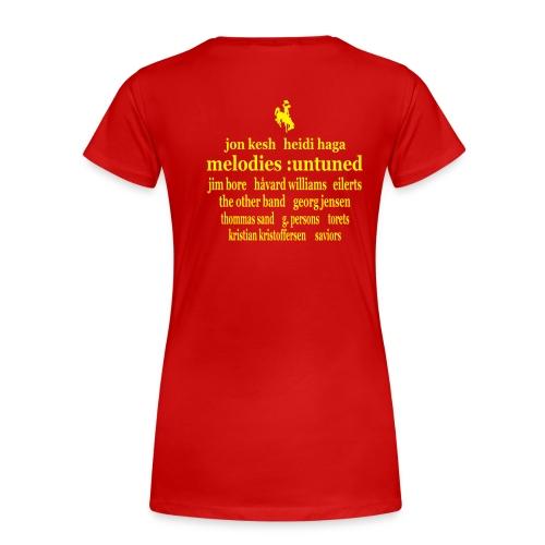 Offisiell AKF05 DollyTee (OBS! GAMMEL MODELL) - Premium T-skjorte for kvinner