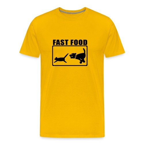 Fast Food Graphic T-shirt - Men's Premium T-Shirt