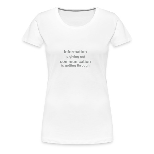 Communication T-shirt - Frauen Premium T-Shirt