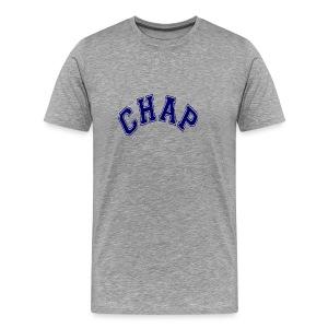 Adult 'CHAP' Logo T (Ash) - Men's Premium T-Shirt