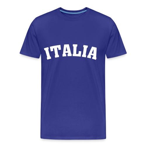 Italia 90 Shirt Blue/White - Männer Premium T-Shirt
