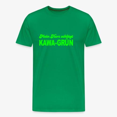 Mein Herz schlägt KAWA-grün - Männer Premium T-Shirt