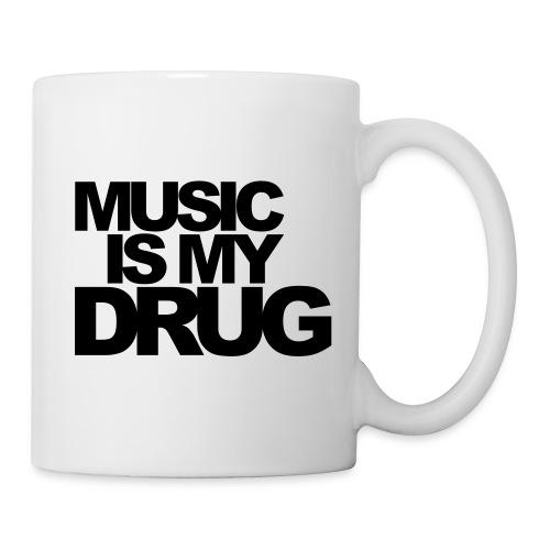 Mug Music Is My Drug - Mug blanc