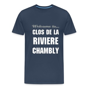 CHB Clos - 3XL - bicolore : NAVY white/grey - T-shirt Premium Homme