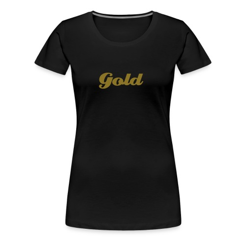 Gold Girle Navy - Frauen Premium T-Shirt