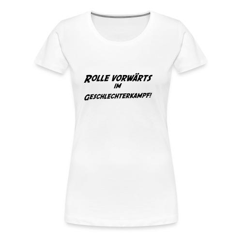Girlie Shirt - Rolle vorwärts... - Frauen Premium T-Shirt