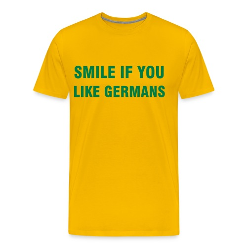SMILE IF YOU LIKE GERMANS - Men's Premium T-Shirt