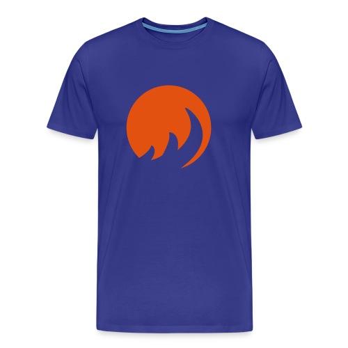 Circle Flame - Männer Premium T-Shirt