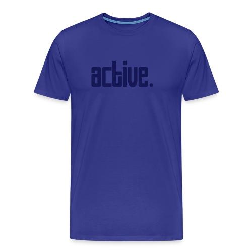 Active Blue T-Shirt - Men's Premium T-Shirt