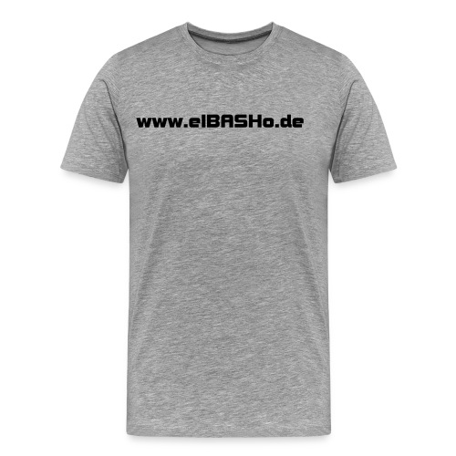 elBASHo! Shirt Simple Grey - Männer Premium T-Shirt