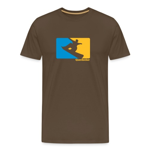 Querdenker Snowboardshirt braun - Männer Premium T-Shirt