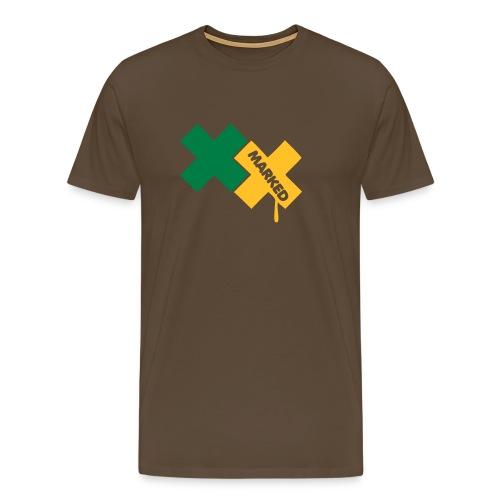 T-shirt Brun Market - T-shirt Premium Homme