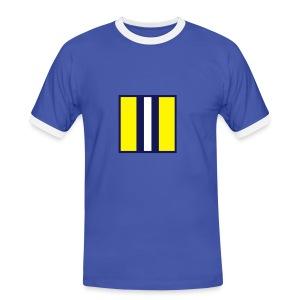 SCARF SQUARE - AWAY - Men's Ringer Shirt