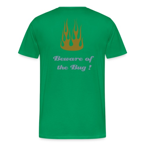 1HC motif coeur + dos Flamming - Beware to the Bug - T-shirt Premium Homme