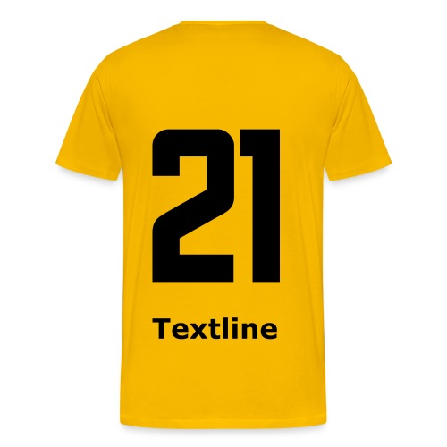 Teamshirt Yellow - Männer Premium T-Shirt