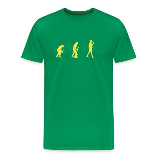 T-shirt, grønn - Premium T-skjorte for menn