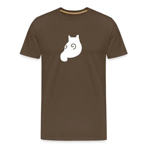 MausShirt braun/weiss - Männer Premium T-Shirt