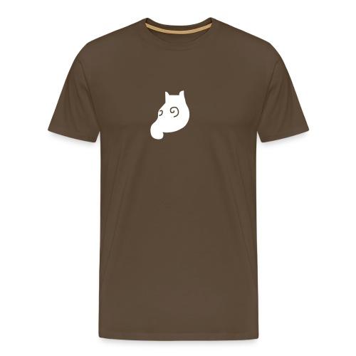 MausShirt braun/weiss dezent - Männer Premium T-Shirt