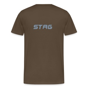 'Stag...Freedom' Black & Silver T-shirt - Men's Premium T-Shirt