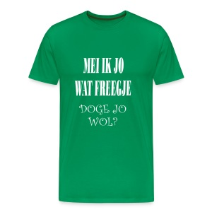 Fries Shirt Doge Groen - Mannen Premium T-shirt