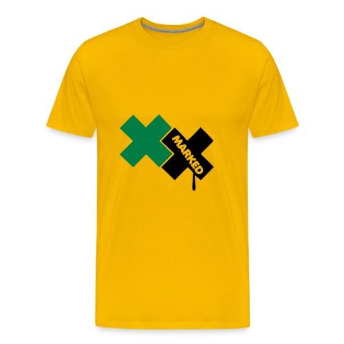 Marked Amarillo - Camiseta premium hombre