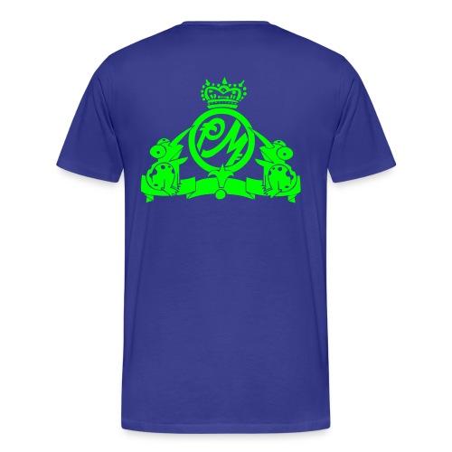Puppetmastaz Emblem Blue/Green - Men's Premium T-Shirt