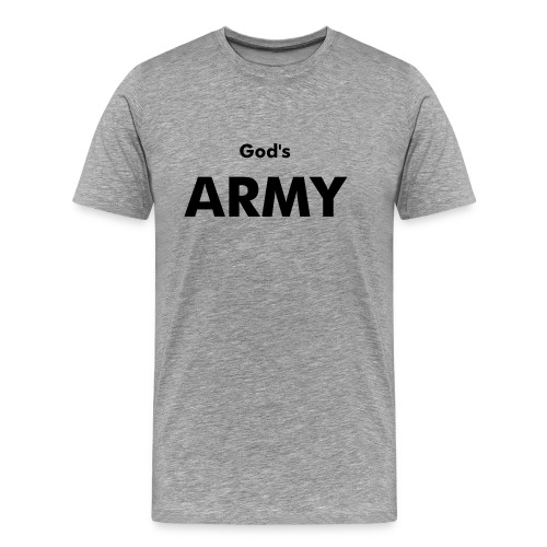 God's ARMY (Flexdruck) - Männer Premium T-Shirt