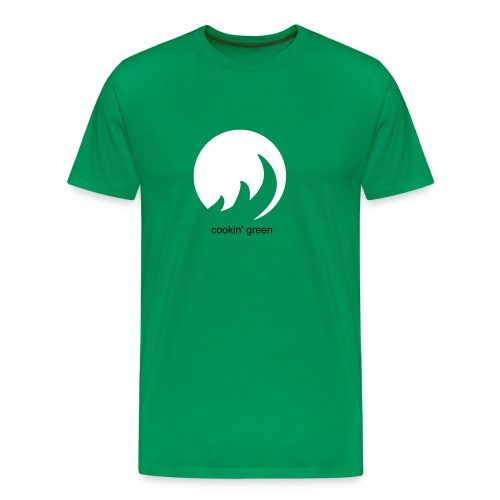 Cookin' Green Logo (Green) - Men's Premium T-Shirt