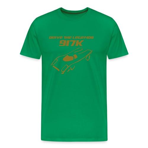 drive 917k - Shirt: grün; Druck: gold-metallic - Männer Premium T-Shirt