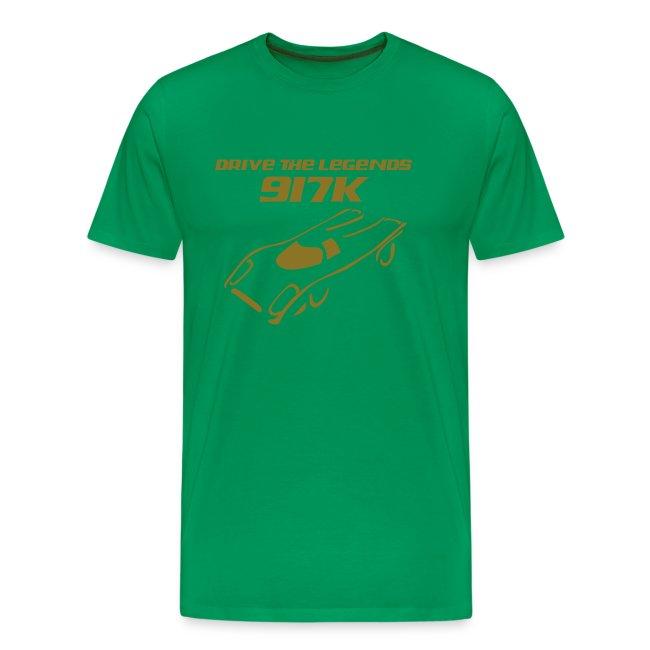 drive 917k - Shirt: grün; Druck: gold-metallic