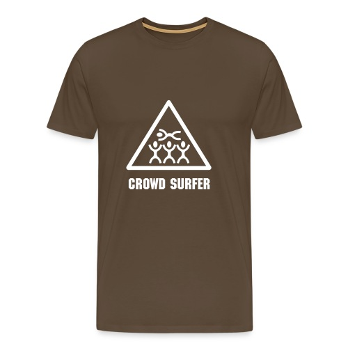 Crowd Surfer Brown - Men's Premium T-Shirt