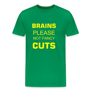 Brains please!!! - Männer Premium T-Shirt