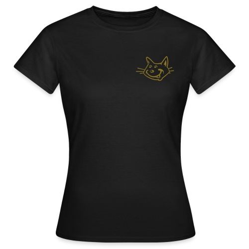 cheeky cat - chocolate and gold - Women's T-Shirt