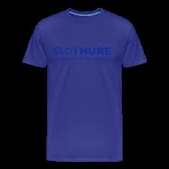T-Shirts ~ Männer Premium T-Shirt ~ SLOTHURE - Shirt: hellblau; Druck: blau