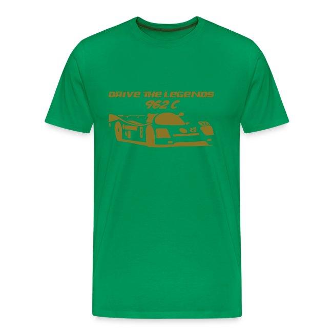 drive 962c - Shirt: grün; Druck: gold-metallic