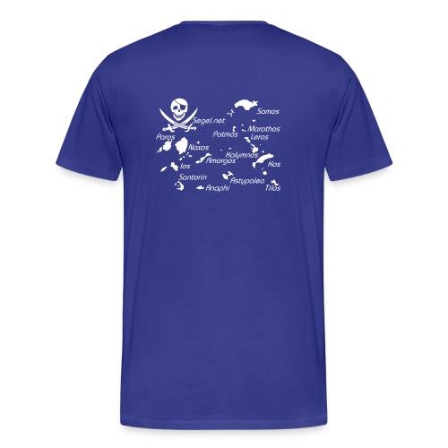 Dodekanes Samos Patmos Marathos Kalymnos Leros Kos Astypalea Tilos Santorin Amorgos Ios Naxos Paros Skipper Shirt mit Se - Männer Premium T-Shirt