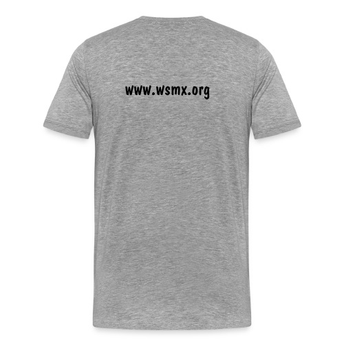 WSMX Grey T-Shirt (Mens) - Men's Premium T-Shirt