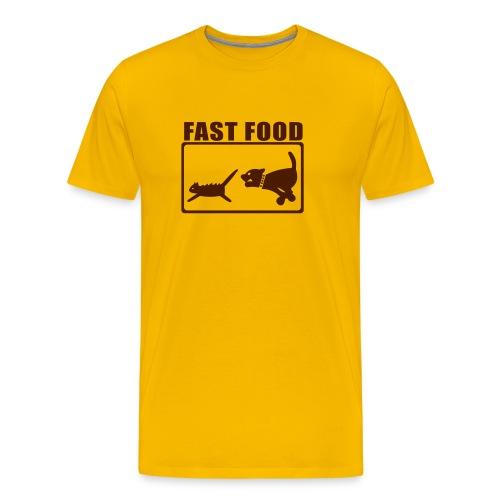 Tshirt MC Jaune FastFood Marron - T-shirt Premium Homme