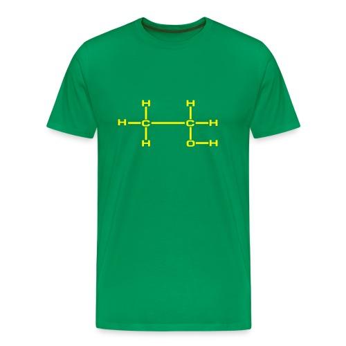 ETANOLI tummanvihreä/keltainen - Miesten premium t-paita