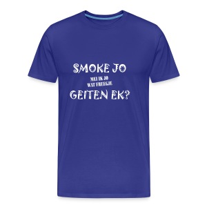 Fries Shirt Smoke L/Blauw - Mannen Premium T-shirt