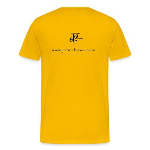 JH Comfort-T yellow/black - Men's Premium T-Shirt