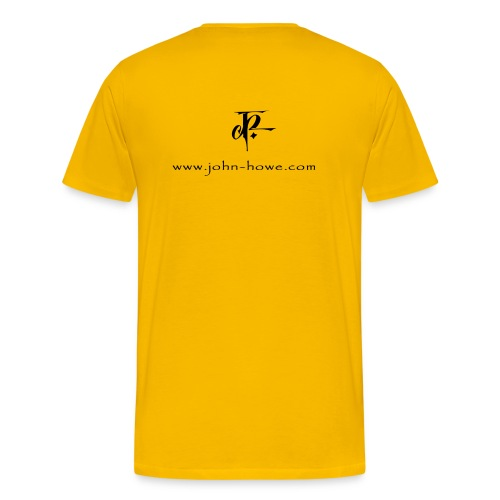 JH Comfort-T yellow/black - Men's Premium T-Shirt