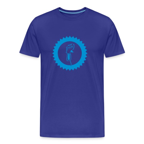 Controller - Shirt: blau; Druck: hellblau - Männer Premium T-Shirt